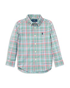Ralph Lauren - Boys' Plaid Cotton Poplin Shirt - Little Kid